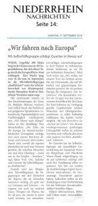 Niederrhein-Nachrichten, 17.09.2016