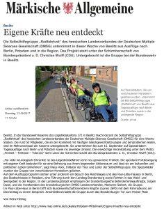 12.09.2017 Märkische Allgemeine