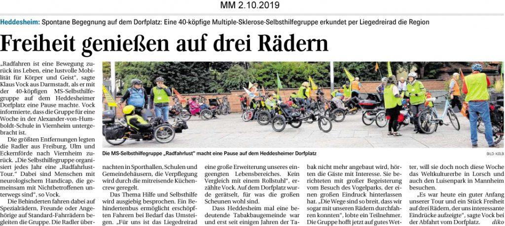 Mannheimer Morgen, 02.10.2019