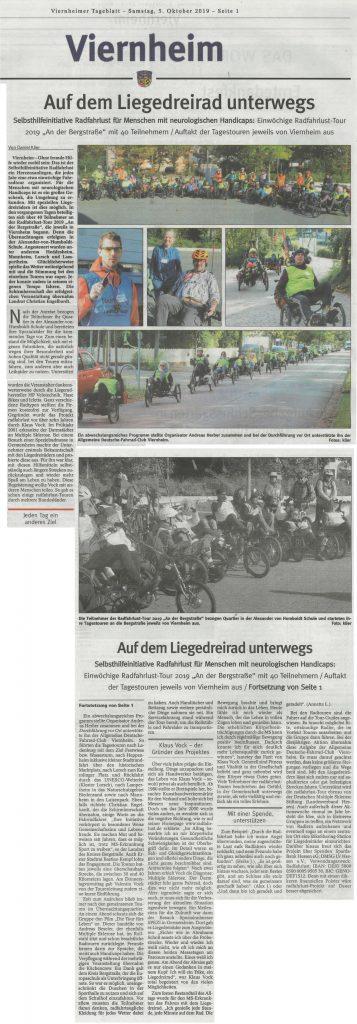 Viernheimer Tageblatt, 05.10.2019