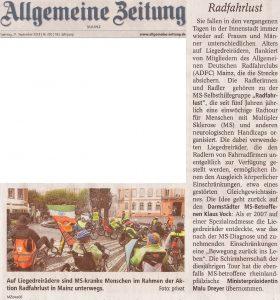 Allgemeine Zeitung, 21.09.2013